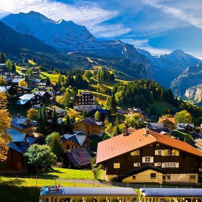 Wengen, Swiss Alps, Canton Bern, Switzerland.