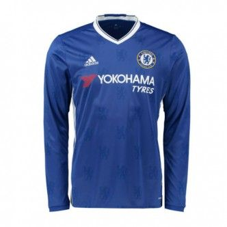 16-17 Chelsea Home Thailand Fans Long Sleeve Man Soccer Jersey