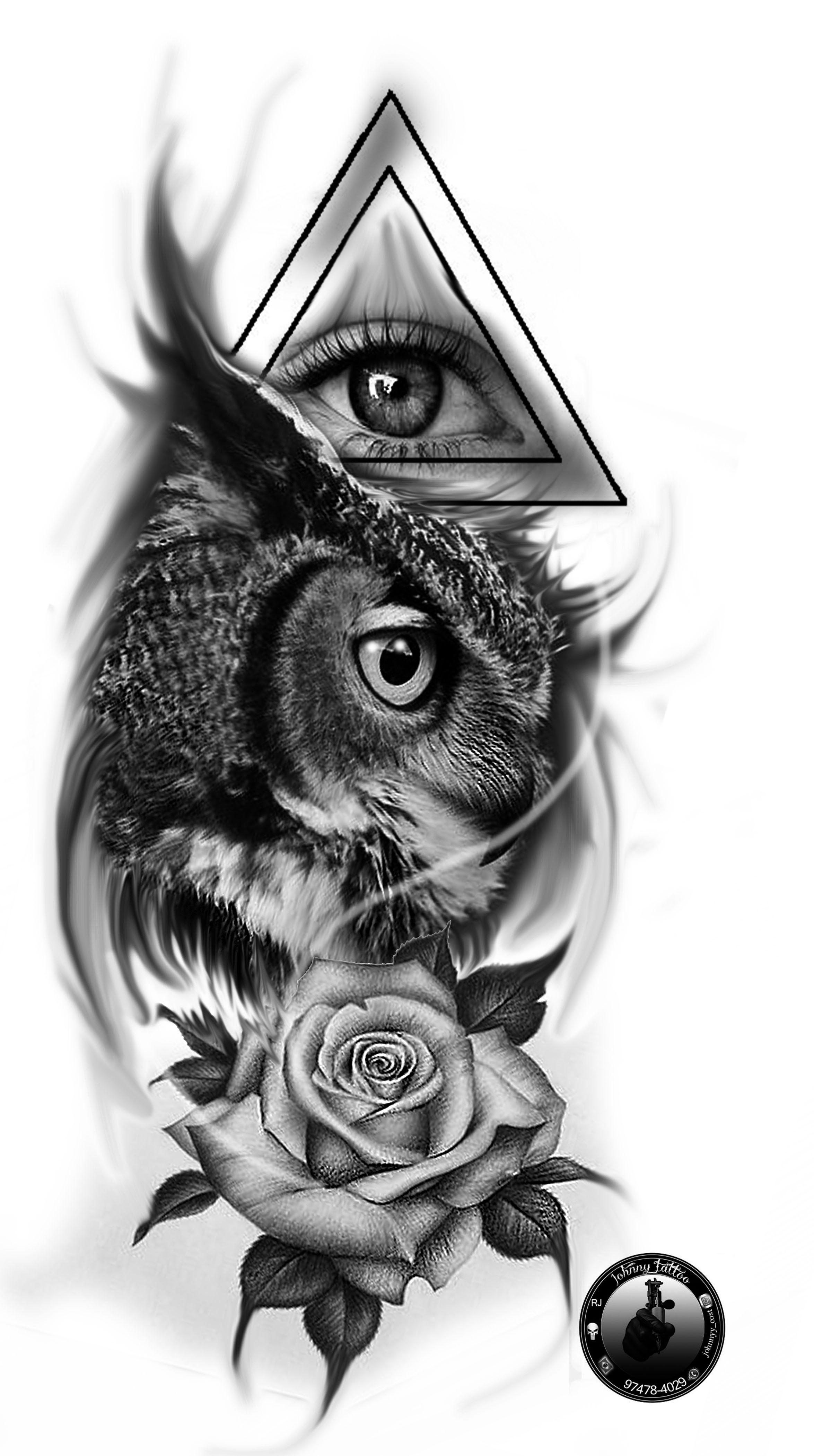 Art Owl Art Tattoo Desenhos Tattoo Coruja Olho Desenhos Preto