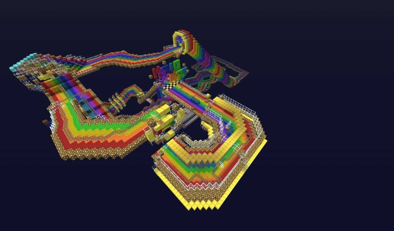 Road Map Of Project%0A Rainbow Road from Mario Kart creator chocobokupo