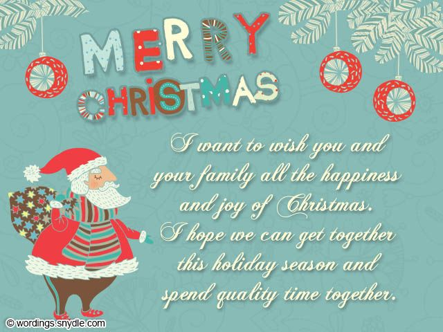 Christmas Card Messages and Christmas Card Wordings ...