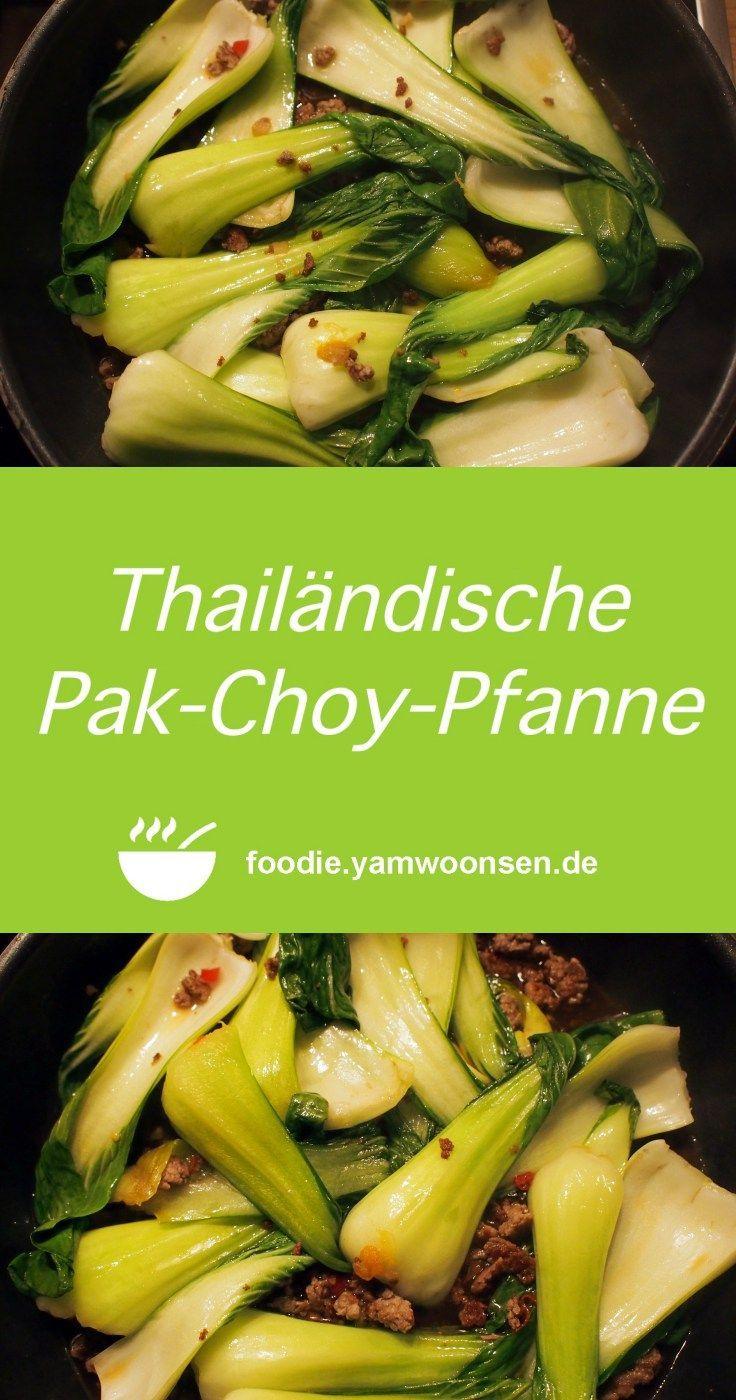 Thailändische Pak-Choy-Pfanne