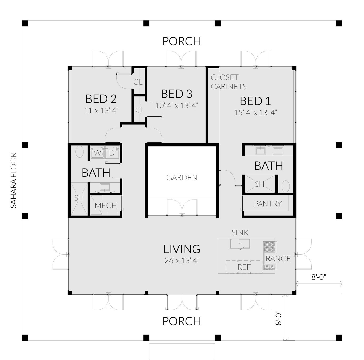 Modern House With Rooftop Garden 3 Bedrooms Tyree House Plans Modern House House Plans Modern Style House Plans