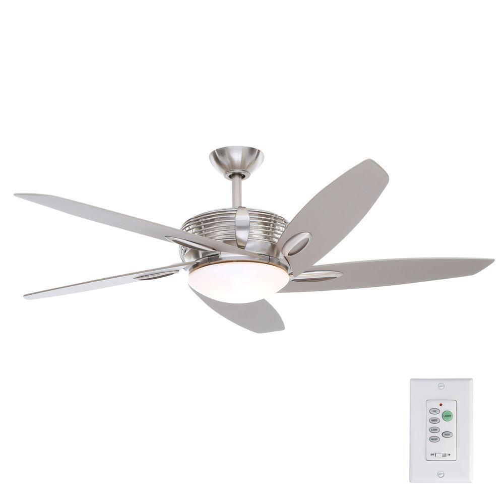 Hampton Bay Arctic Sky 54 In Indoor Brushed Nickel Ceiling Fan