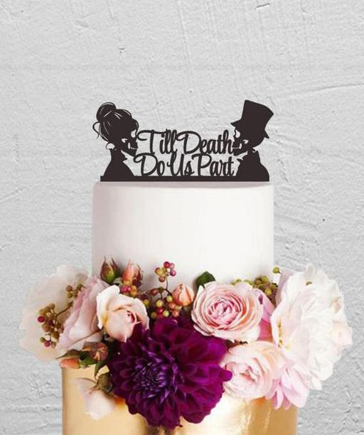 Wedding Cake Topper Till Do Us Part