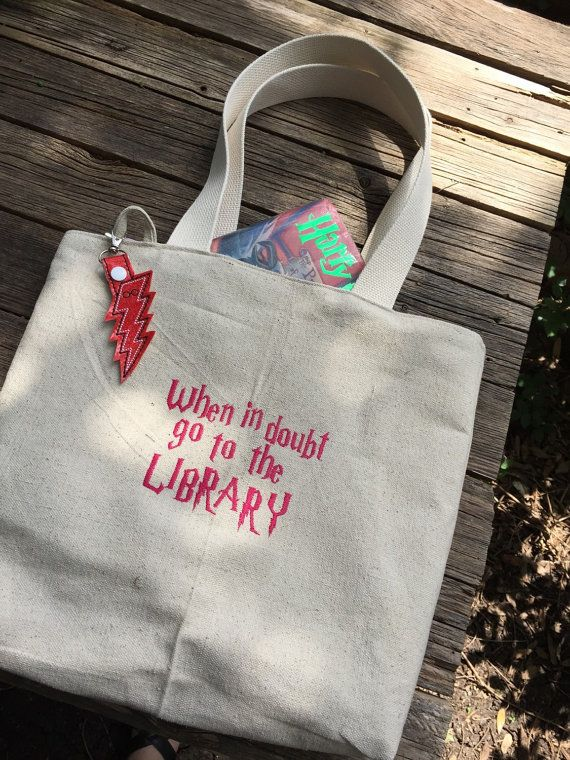 Literary Geek Library Tote canvas totebag over the by babymoon