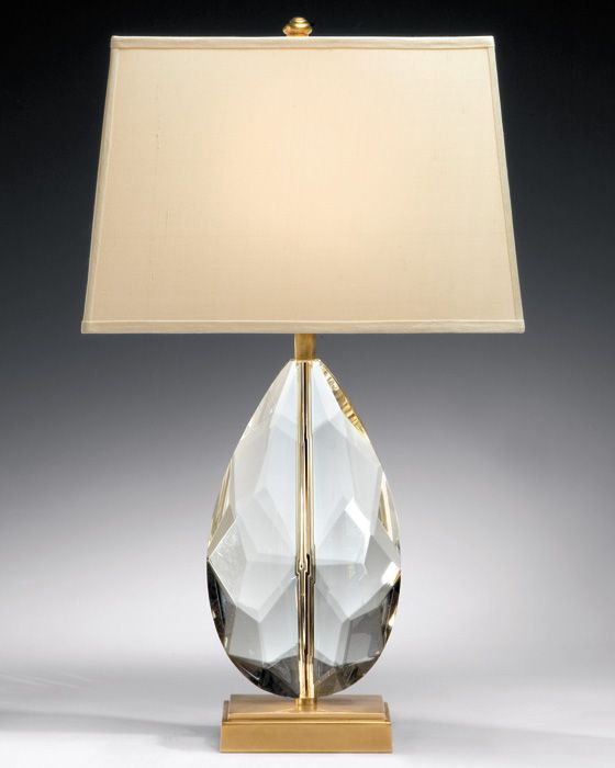 Solid Crystal Lamp In 2020 Brass Table Lamps Table Lamp Brass Lamp