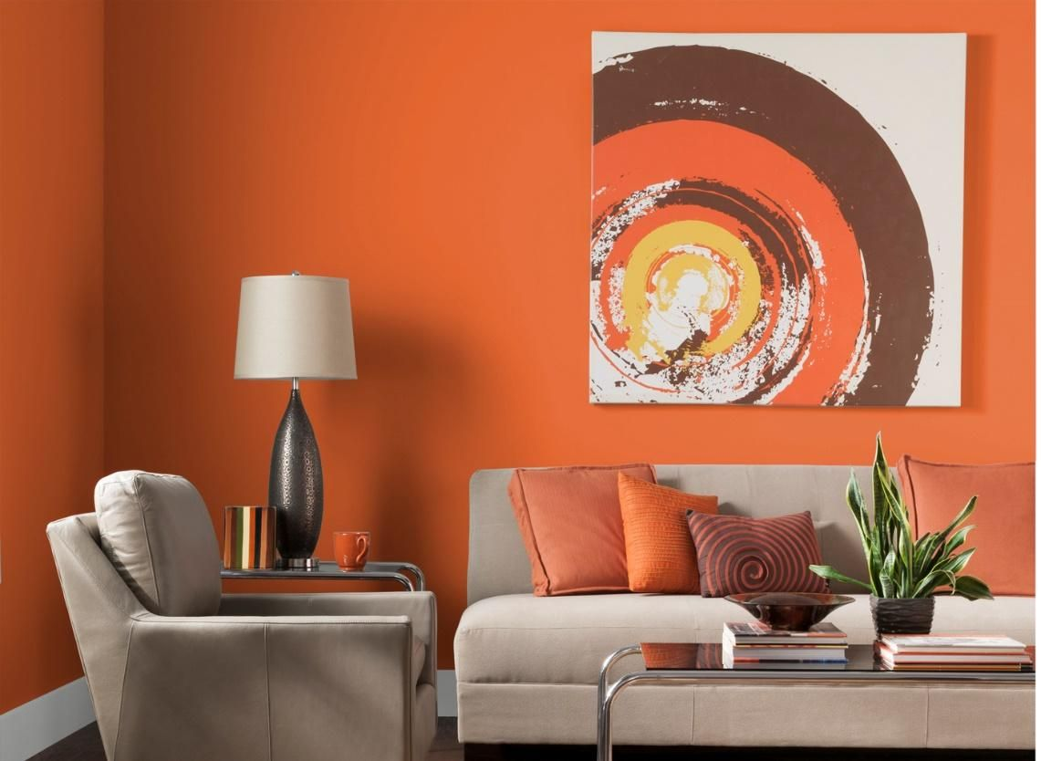 Orange painting ideas for living room - Vacation Rental Interior Design And Paint Colors Tripping Com