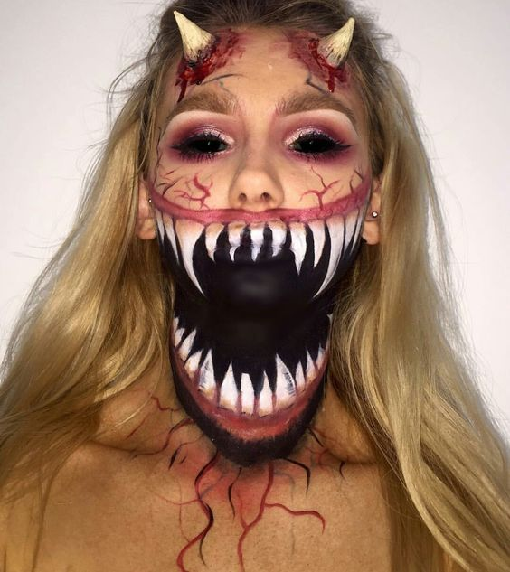 Really Scary Halloween Makeup Ideas To Scare The Wits Out Of Your - halloween horror makeup ideas