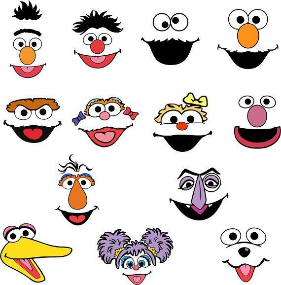 photograph regarding Sesame Street Printable Faces named Pin upon Birthday Designs