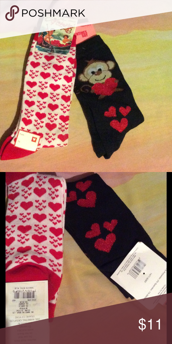 Valentines sock bundle Same day shipping New. Buy now and I'll ship out. You should get them by this Tuesday Feb 14,2106 if bought by Saturday 2/11/17. Accessories Hosiery & Socks