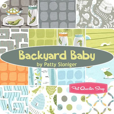 Backyard Baby Fat Quarter Bundle Patty Sloniger For Michael Miller Fabrics  Backyard Baby Fat Quarter Bundle Includes 15 Fat Quarters