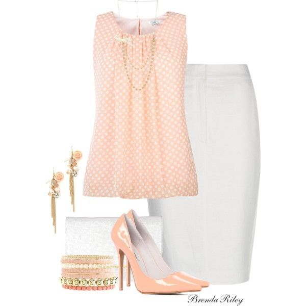 Just Peachy, created by brendariley-1 on Polyvore