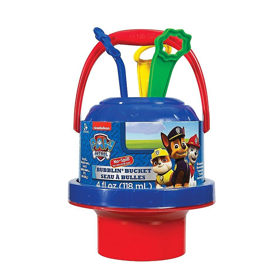 Paw Patrol Nickelodeon No-Spill Bubblin Bubbles Bucket