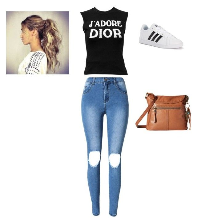 """""""1st Lacrosse Game"""" by samanthastyle-cdxxi ❤ liked on Polyvore featuring Christian Dior, adidas, The Sak, TeenWolf, ponytail, fashionset and theoraeken"""