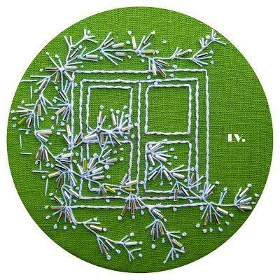 * EMBROIDERLAND wonderful art using different stitches