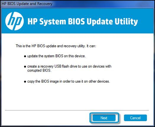 HP System BIOS Update Utility | TECHNOLOGY for the ARTIST