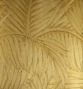 Behang Arte Sabal Collectie: Arte Monsoon behangcollectie Design name: Sabal behang Kleur: goud Rolbreedte (cm): 70 cm Rollengte: 10 meter Patroonherhaling (cm): verspringende aanzet, 64 / 32 cm...