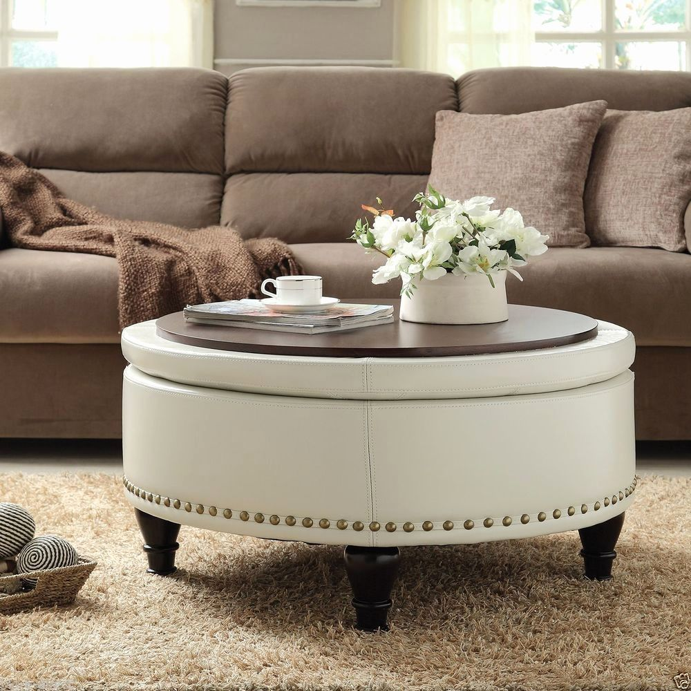 Coffee Table With 4 Storage Ottomans Download Fabric Coffee Table Ottoman New Bro Round Ottoman Coffee Table Leather Ottoman Coffee Table Round Storage Ottoman [ 1000 x 1000 Pixel ]