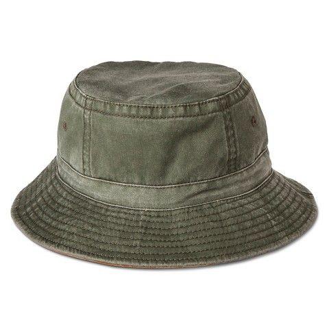 bc4fd72c0 Men's Bucket Outdoor Hat Olive/Orange | Target Men's Hats | Outdoor ...