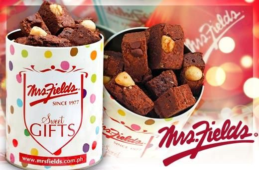 Comforting Indulgence or Sweet Gift: 15 pcs. Brownie Nibblers in a Cylinder Tin by Mrs.Fields for P311 instead of P445