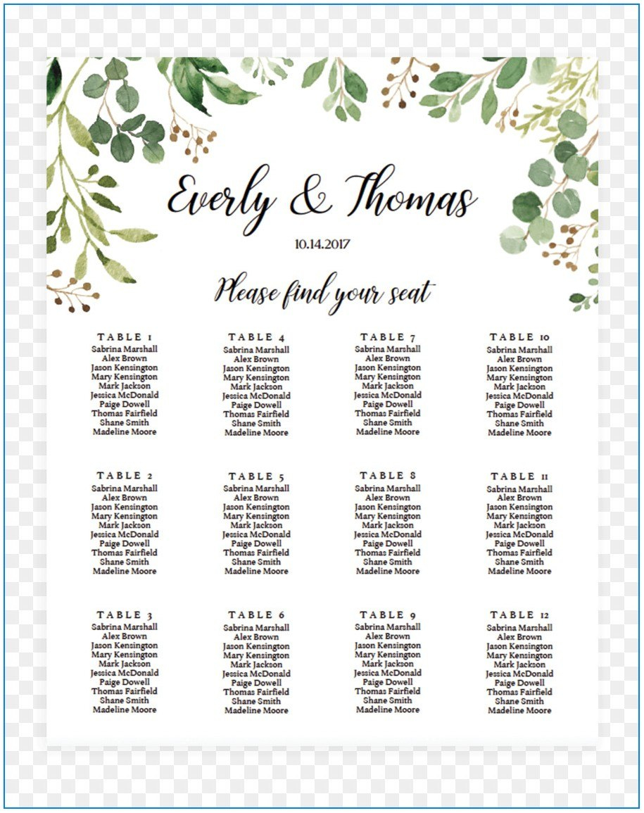 Free Wedding Seating Chart Template Microsoft Word Template Inside Wedding Seating C Seating Chart Wedding Template Seating Chart Wedding Seating Plan Template