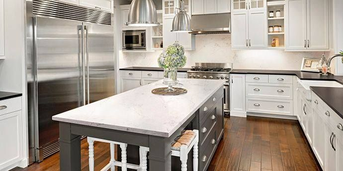 zodiaq quartz countertops colour quartz beautiful island photo of zodiaq quartz in london sky and durable alternative to real marble it wonderfully compliments the kitchen
