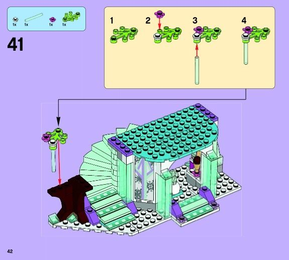 Elsa's Sparkling Ice Castle [Lego 41062