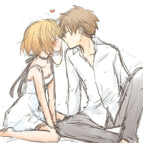 Anime Anime Couple Boy Couple Cute Draw Girl Heart Kiss Love Manga