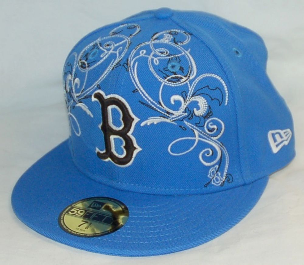 competitive price 9798a 3b365 NEW Era 59fifty BOSTON RED SOX Baseball Hat BLUE fitted cap SIZE 7-1 4 MLB  BRS  NewEra  BostonRedSox