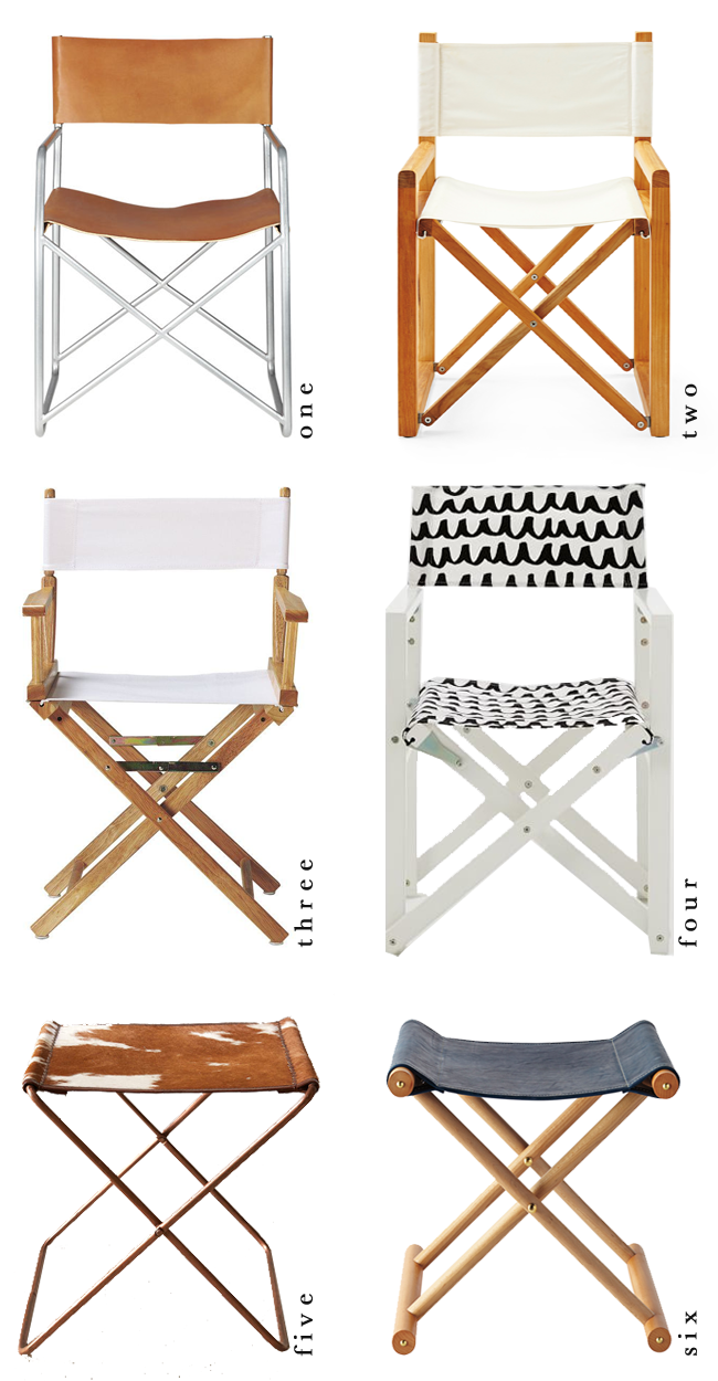 Director S Chairs Making The Cut Fill Your Home W