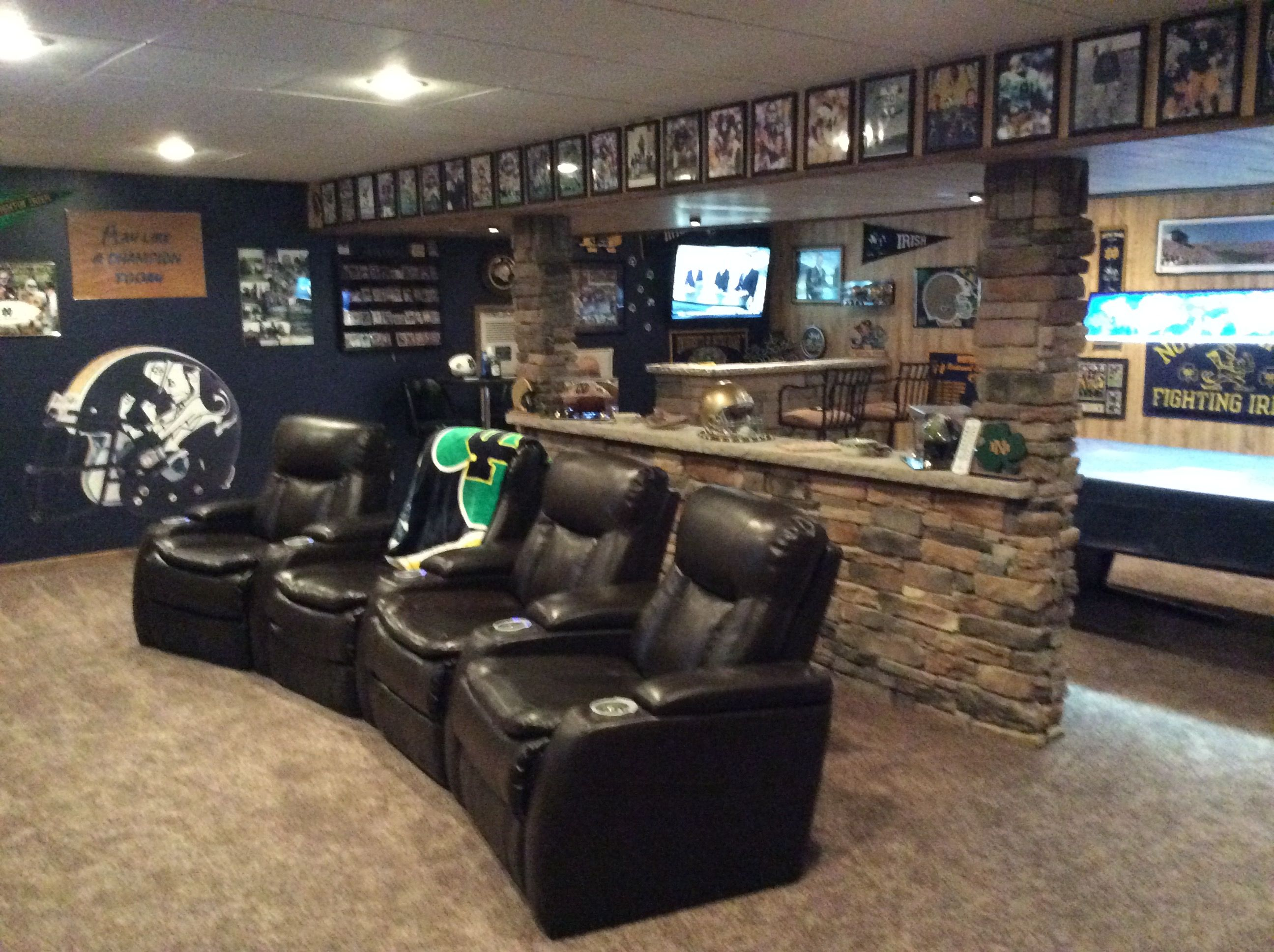 Man Cave Ideas Football : Notre dame man cave pinterest