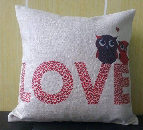 Howarmer 18x18 Throw Pillows Love Decorative Throw Pillows Owl Lovers Girlfriend Gifts Gift for Lover Red Heart Howarmer http://www.amazon.com/dp/B00N95RHRM/ref=cm_sw_r_pi_dp_4Q4dvb0E9G56H