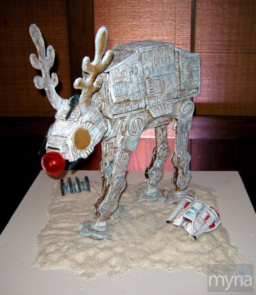 Geeky Christmas: Rudolph Star Wars Walker gingerbread house