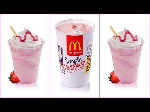 DIY: McDonald\'s Strawberry Milkshake Recipe! | food and cake ...