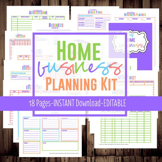 Home Business Planner, Small Business Planner Printables, Letter + - free business printables