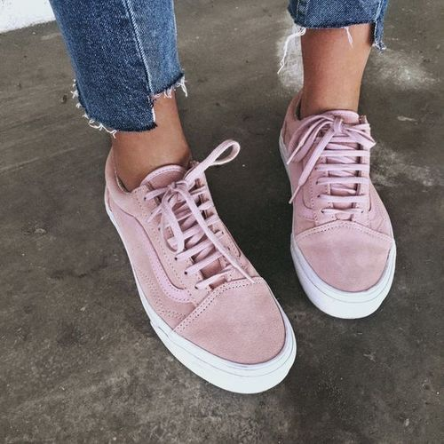 Pink Vans/ Vans sneakers roze / dusty roze sneakers Vans old skool