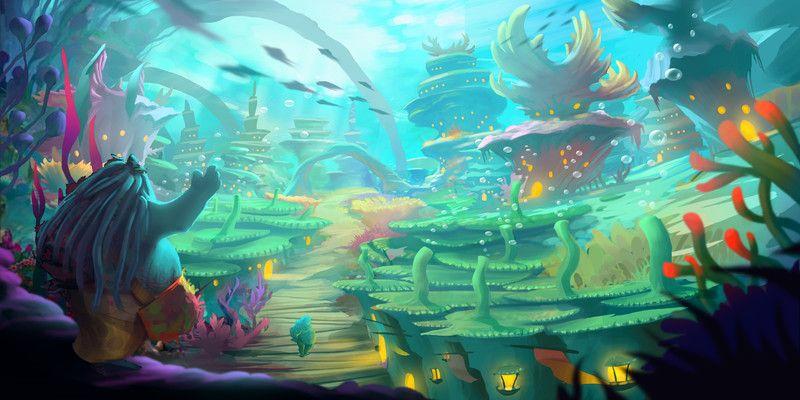 Artstation Underwater City Concept Art Francois Dumoulin In 2020 Underwater City Concept Art Concept Art Characters