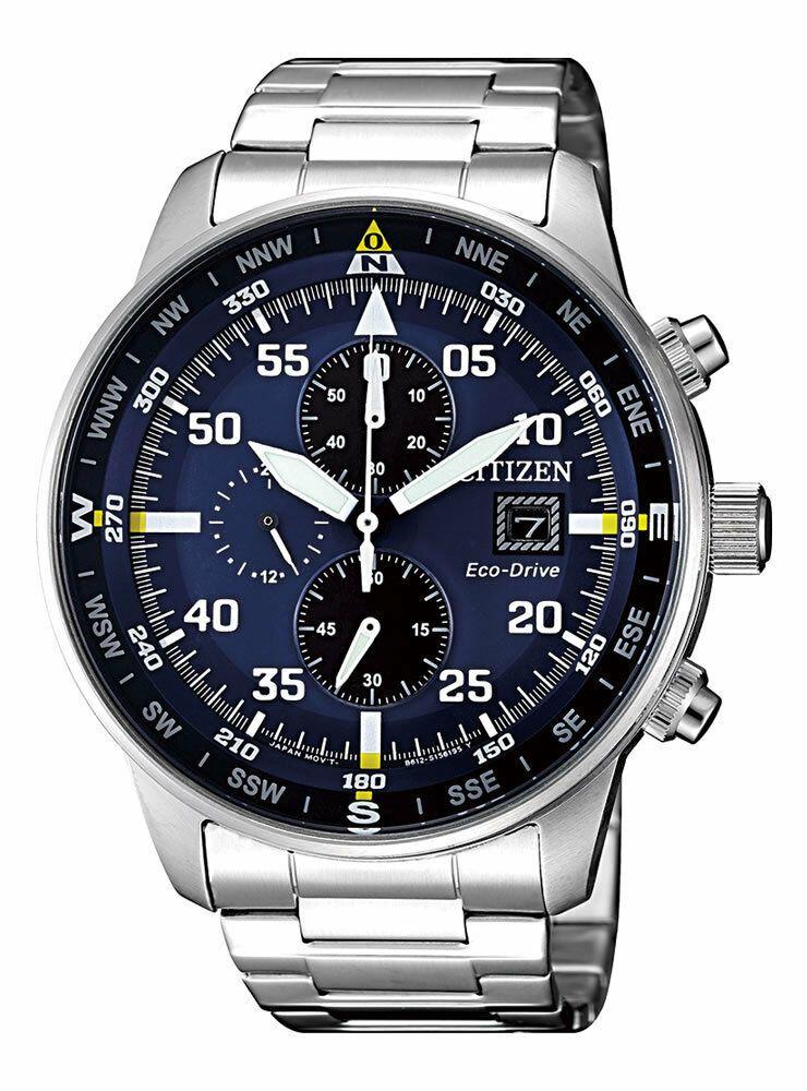 Citizen Crono Aviator Men S Eco Drive Chronograph Watch Ca0690 88l New Ebay Montre