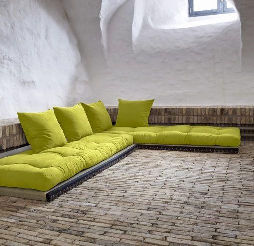 Sof cama chico verde deco salones pinterest sof s - Sillones para espacios reducidos ...