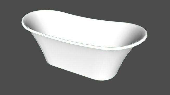 Toulouse Bateau Bath   3D Warehouse #illustration #3dmodel #sketchup #bath # Bathtub