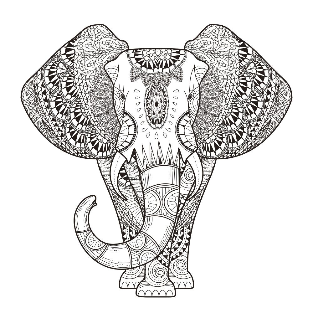 Elephant Mandala Coloring Pages Free Online Printable Sheets For Kids Get The Latest Images