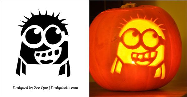 5 free halloween minion pumpkin carving stencils patterns ideas printable templates for kids