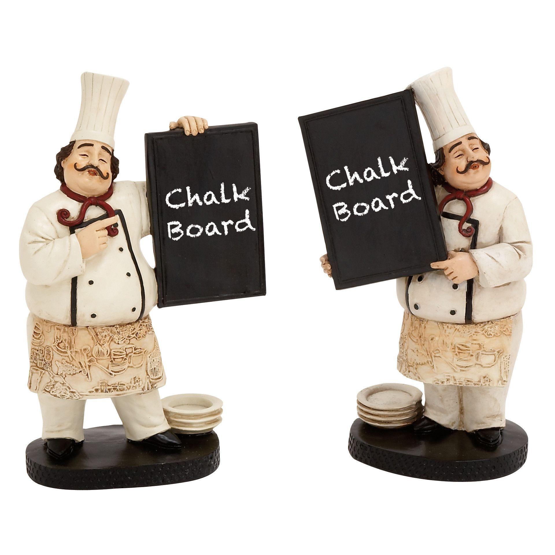2 Piece The Cutest Chef Figurine Chalkboard Set | Cocineros ...