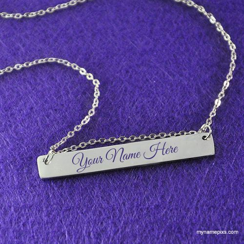 Write Your Name On Silver Chain Locket Online Free In