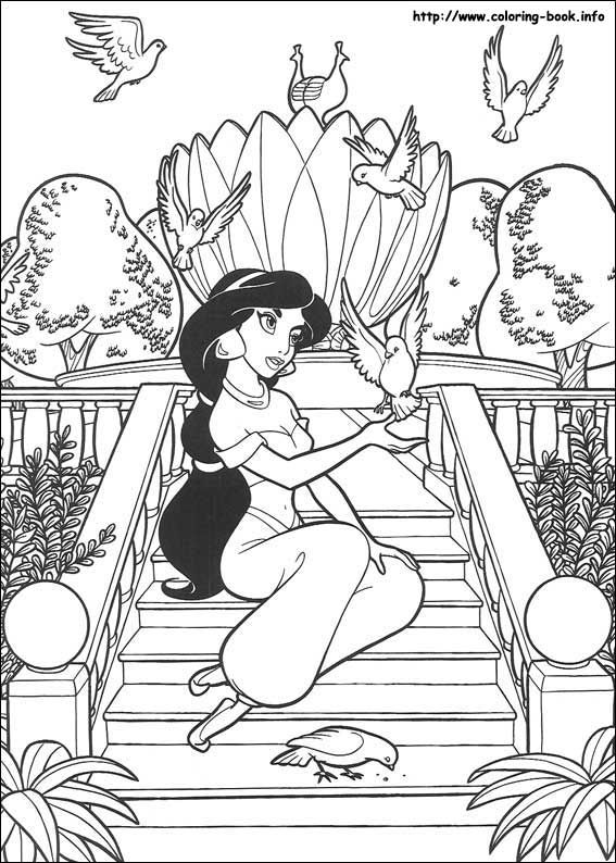 Aladdin coloring picture | Stencils | Pinterest | Colorear, Libros ...