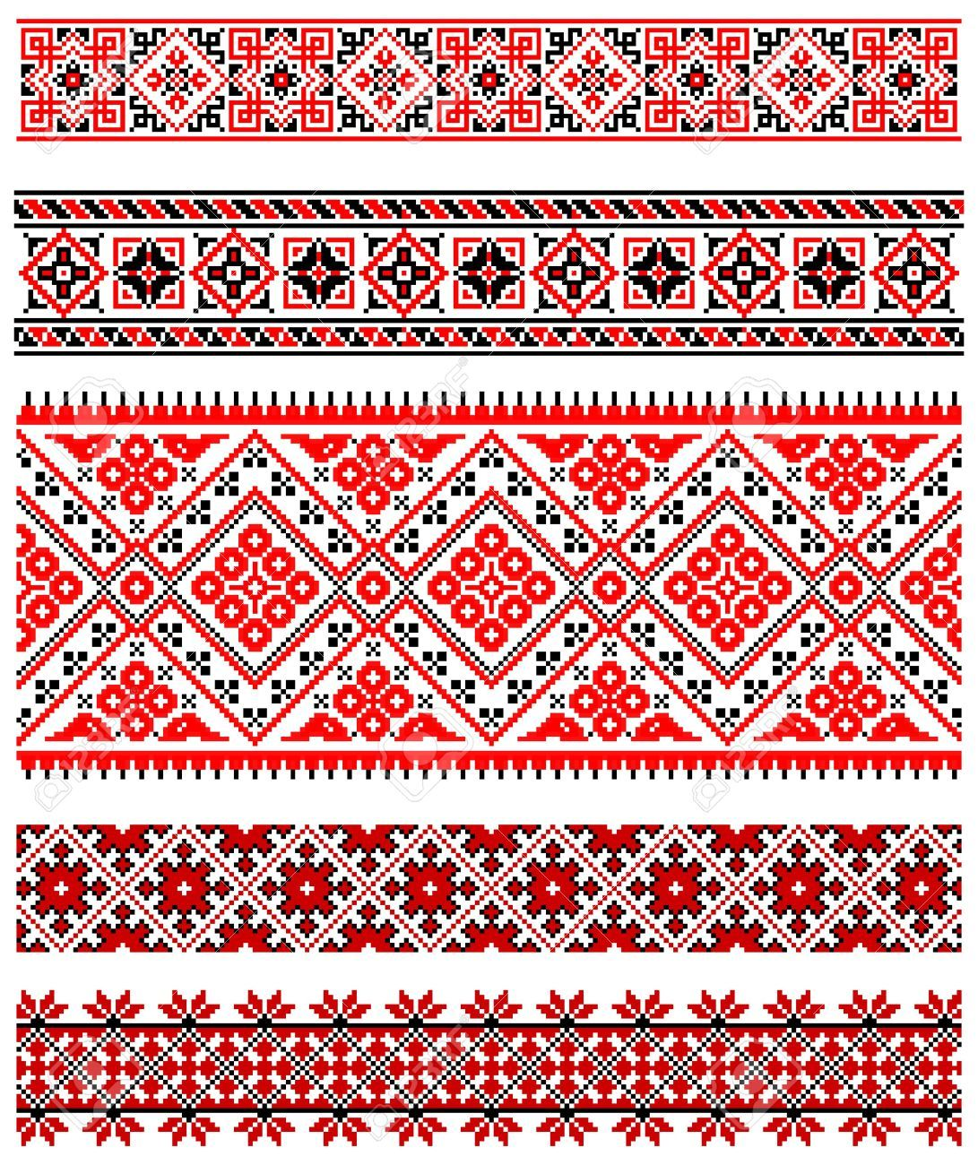 8877453-illustrations-of-ukrainian-embroidery-ornaments-patterns ...