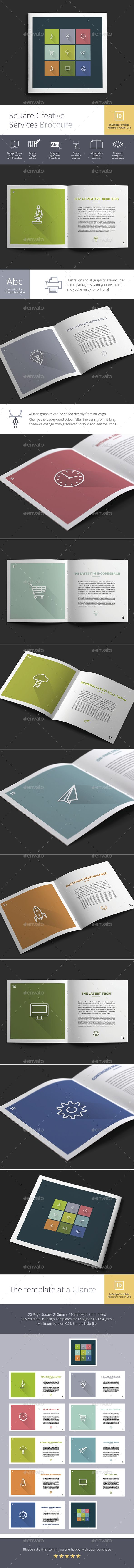 Square Creative Services Brochure Design Idea   Brochure Template     Square Creative Services Brochure Design Idea   Brochure Template InDesign  INDD  Download here  http
