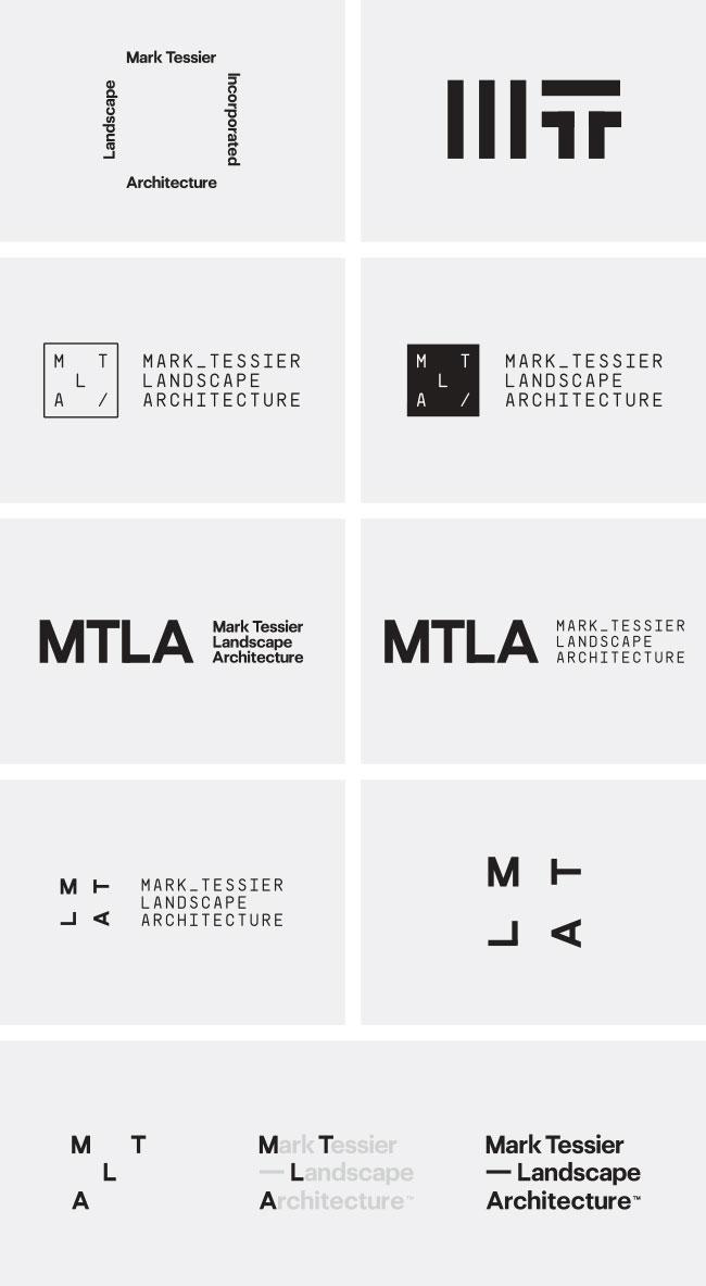 Mark Tessier Landscape Architecture | Identity Designed