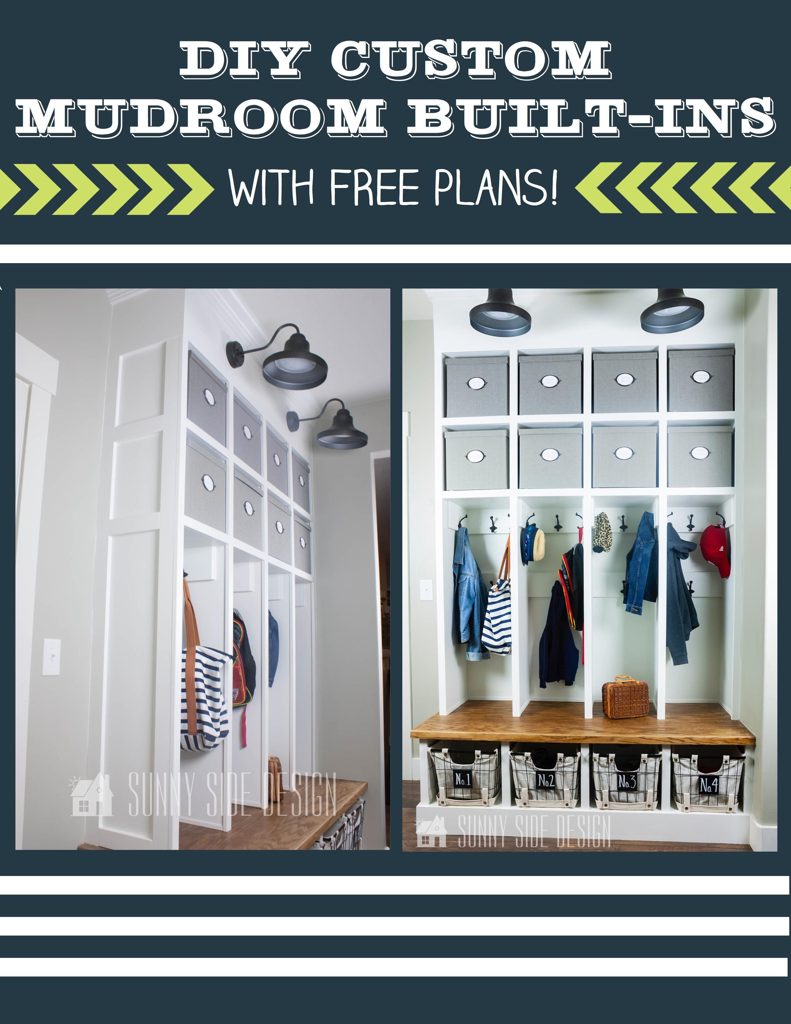 Free Plans Diy Mudroom Built Ins Built Ins Mudroom Mudroom Design